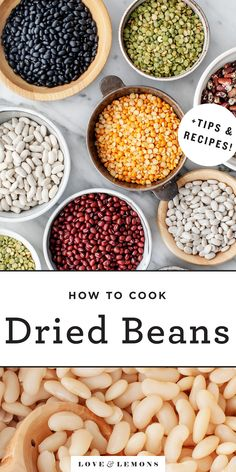 How to Cook Beans Recipe – Love and Lemons Dried beans are cheap, nutritious, easy to cook, and delicious! Learn how to cook dried beans on the stove, and find flavorful ideas for seasoning them. Bean Recipes, Soup Recipes, Vegetarian Recipes, Cooking Recipes, Healthy Recipes, Zoodle Recipes, Chili Recipes, Family Recipes, Chicken Recipes