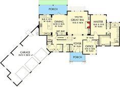 plan 69594am rugged craftsman with angled garage craftsman pdf
