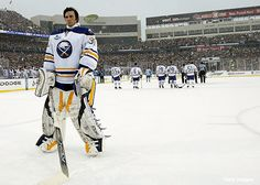 Ryan Miller, Buffalo Sabres, 2008 Winter Classic // There is nothing like watching hockey outdoors!!!