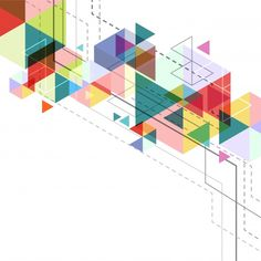 Background with geometric shapes Free Vector
