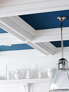 Love the Hamptons look?  You can achieve this amazing look through some clever paint work and some bright white painted architrave lengths added to your ceiling - Ask Jen @ Bristol Nerang how today!