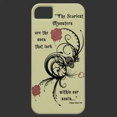 Scary Gothic Edgar Allen Poe Quote iPhone 5 Case- as much as olive this quote, it is in fact NOT a Poe quote.
