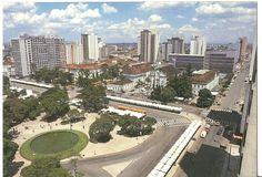 Memória da Curitiba Urbana. Praça Rui Barbosa, ainda com o chafariz.