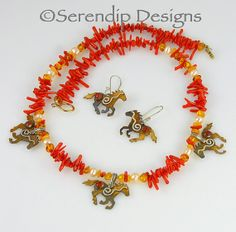 Silver Patina Horse Necklace and Earrings by SerendipDesignsJewel, $198.00 Artisan Jewelry, Handmade Jewelry, Unique Jewelry, Horse Necklace, Stone Chips, Handmade Design, Handmade Sterling Silver, Baltic Amber, Sell On Etsy