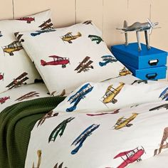 Aviators Percale Airplane Bedding - Kids Decorating Ideas