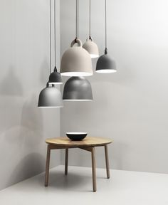 Buy Bell Pendant Lamp from Normann Copenhagen. **Canopy color matches the color of the pendant.** The expression of the Bell pendant lamp is robust, th. Interior Lighting, Home Lighting, Lighting Design, Pendant Lighting, Pendant Lamps, Lighting Ideas, Wire Pendant, Modern Lighting, Deco Luminaire