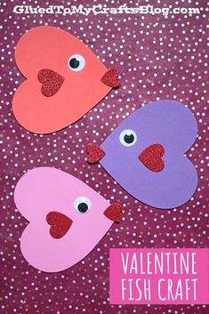 Craft Foam Heart Valentine Fish – Kid Craft Craft Foam, Valentine's Day Crafts For Kids, Fish Crafts, Valentine Day Crafts, Fun Stuff, Heart, Holiday, Fun Things, Vacations