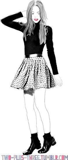 Circle Skirt Fashion Beauty, That Look, Illustrations, Skirts, Fabric, Hair, Tejido, Tela, Illustration
