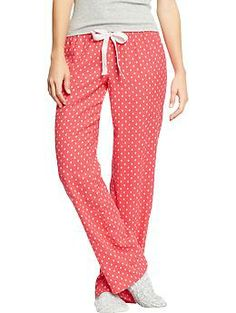 Womens Printed Flannel PJ Pants, Size: Tall medium, navy plaid or ...