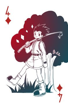 7/5/18(2 days after Gon's b-day~) - I do not own it, from pixlr created and belongs to 之之. Gon diamond 4. (Do not reprint or sell)