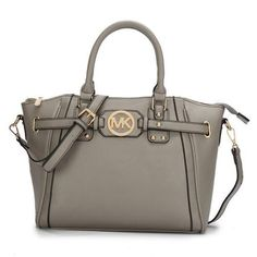 Michael Kors Pebbled Leather Large Grey Satchels, Your First Choice