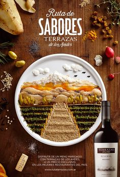 Food Illustration: Terrazas Vinos | Moët Hennessy on Behance