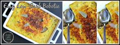 An easy low carb bobotie. Spiced, baked mince dish with a savoury custard topping.