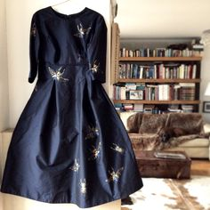 Silk dress handpainted