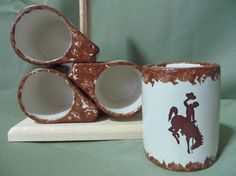 Wyoming Cowboys Coffee Mug Set/4 with tree officially by wyopotter, $40.00