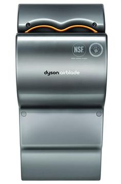 Dyson Airblade Hand Dryer - fast and eco-friendly, it dries your hands in just 12 seconds!  Check it out at HandDryerSupply.com