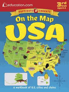 Children can take an exciting trip across the United States to learn the basics of geography. Along the way, they'll review and memorize the 50 state capitals, practice latitude and longitude, discover important national landmarks, and more.