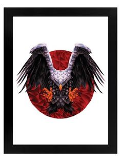 Swooping down from the skies, the mighty eagles showcases its unique ability to dart from the wild blue yonder to catch its prey. For the wildlife lover, this stunning geometric print is a great way to decorate any modern home. Canvas Wall Art, Wall Art Prints, Framed Prints, Poster Prints, Geometric Tiger, Eagle Icon, Band Merch, Red Background, Print Pictures