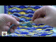 Como Crochet ondulado Shell ponto Parte 1 afegão