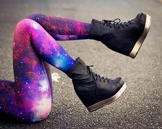 galaxy purple leggings.