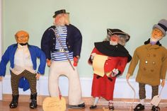 Vintage Doll Set Dolls Mr. Pinwick Mr Micawber Captain Hook & More Character Dolls WONDERFUL Charles Dickens
