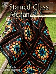 "Stained Glass Afghan Crochet Pattern Function and art collide in a beautiful stained glass crochet afghan. You won't know whether you want to cover up with it or hang it on your wall! The finished size of this crochet pattern is approximately 45"" x 60"". A PDF download of this pattern is available."