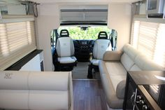 The 50th Anniversary B7943 Esperance motorhome features limited edition ultra leather and has a bed that rolls down from the ceiling at the push of a button.