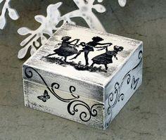Caja de joyería Vintage caja tesorería ohtteam por MyHouseOfDreams