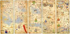 Medieval Map, produced by the Majorcan cartographic school and attributed to Abraham Cresques, 1375 - Photos and videos by Bibliophilia (@Libroantiguo) | Twitter