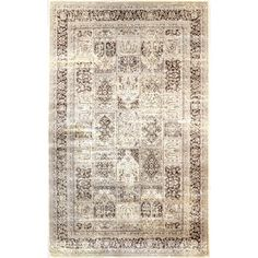 nuLOOM Oriental Vintage Viscose Modern Panel Brown Rug (7'8 x 9'6) - Overstock™ Shopping - Great Deals on Nuloom 7x9 - 10x14 Rugs