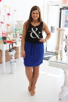 Win or Lose Skirt - We love this royal blue skirt!