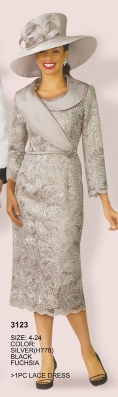 Dress sunday Lily and Taylor 3123 Lace Church Dress Lily and Taylor 3123 Lace Church Dress Church Dresses For Women, Church Suits And Hats, Church Attire, Women Church Suits, Church Outfits, Suits For Women, Clothes For Women, African Fashion Dresses, Fashion Outfits