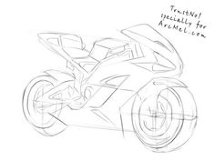How to draw a motorbike step 4