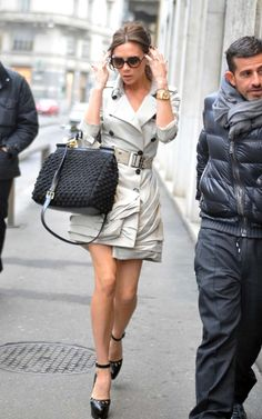 Victoria Beckham Out in Milan January 22 2010