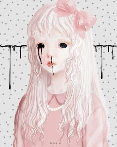 Saccstry, girl, blood, sweet, gore