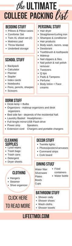 Especially if you're an incoming freshman, knowing what to pack for college can be daunting. Which is why packing is stressful, but as stressful as realizing you forgot to pack something really important. So, I created this college packing list that contains absolutely everything you will need for college.