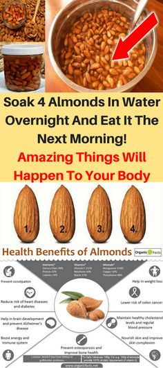 Soak 4 Almonds In Water Overnight And Eat It The Next Morning! Amazing Things Will Happen To Your Body! Did you know that soaked almonds have health benefits that will boggle your mind? Almonds can… Health Benefits Of Almonds, Matcha Benefits, Coconut Health Benefits, Benefits Of Coconut Oil, Soaked Almonds, Natural Cures, Health Remedies, Health Tips, Health Zone