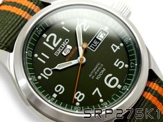 SEIKO 5 Sport SRP275K1 Military Uhr Automatic Herren gents watch Automatik