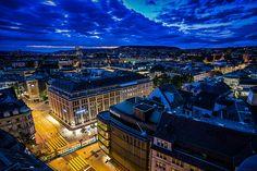 #Zürich blue hour cityscape, #night