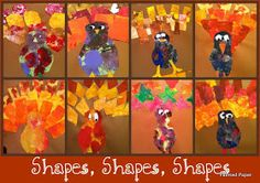 PAINTED PAPER: Gobble, gobble turkey with geometric feathers!