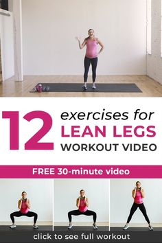 Strength train your way to strong, sculpted legs, thighs and glutes with this Leg Day Workout Video! All you need is a set of dumbbells. Full Body Workout Plan, Workout Plan For Beginners, Body Workout At Home, Workout Plan For Women, Workout Plans, Fitness Workouts, Leg Day Workouts, Wöchentliches Training, Strength Training Workouts