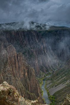 Stormy miasma over Black Canyon of the Gunnison National Park, by Jason Vines, via 500px