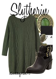 """""""Slytherin"""" by disneykid95 ❤ liked on Polyvore featuring 1928, H&M, CO, Toast, women's clothing, women's fashion, women, female, woman and misses"""