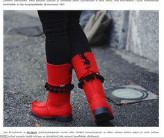 Töysän kenkätehtaan Arctips-huopalapikkaat Tyyliä metsästämässä -blogissa marraskuussa 2013. Koko blogaus täällä: http://tyyliametsastamassa.refashion.fi/2013/11/27/city-tontun-topposet/