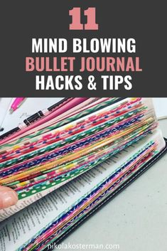 Bullet journal hacks you are going to LOVE! Increase your productivity and creativity this year with these simple bullet journal hacks that actually work! Bullet Journal Hacks, Bullet Journal Layout, Bullet Journal Inspiration, Book Journal, Journal Cards, Bullet Journals, Planner Stickers, Scrapbook Organization, Life Organization