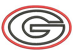 5 sizes Georgia Bulldog Applique Designs University Of