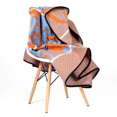 Ba Sotho Khotso Acrylic – Orange & Blue from Basotho Blankets - (Save African Fashion, African Style, Women's Fashion, African Fabric, African Prints, Chill Room, Textiles, Fresh Outfits, Acapulco