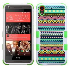 MYBAT TUFF Hybrid HTC Desire 626 / 626S Case - Tribal Sun/Green
