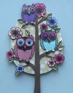 Blooming Owls by Helen Musselwhite