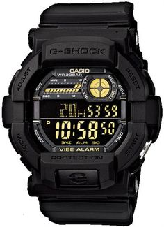 * G-Shock Military Vibration Alert - Black/Gold